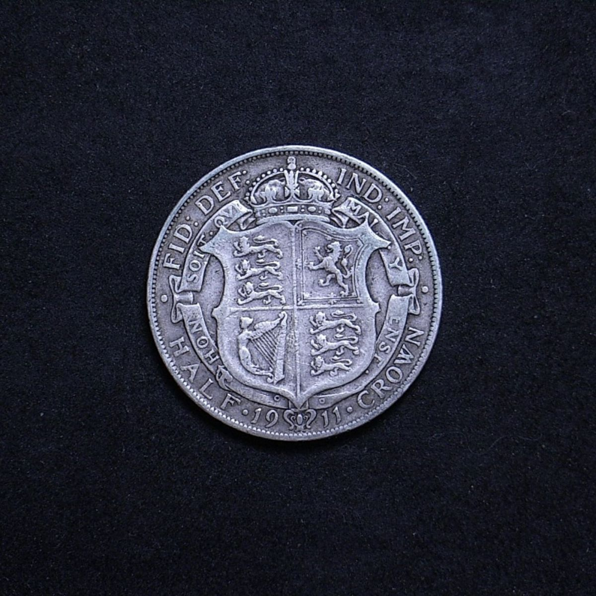 UK Half Crown 1911 reverse showing overall appearance