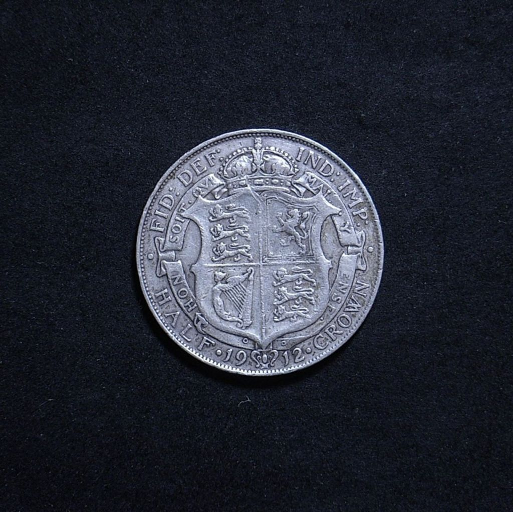 UK Half Crown 1912 reverse showing overall appearance