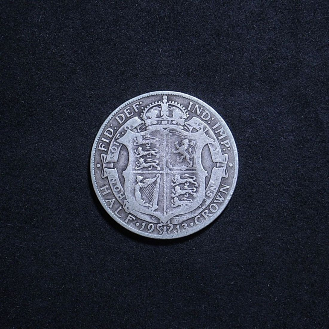 UK Half Crown 1913 reverse showing overall appearance