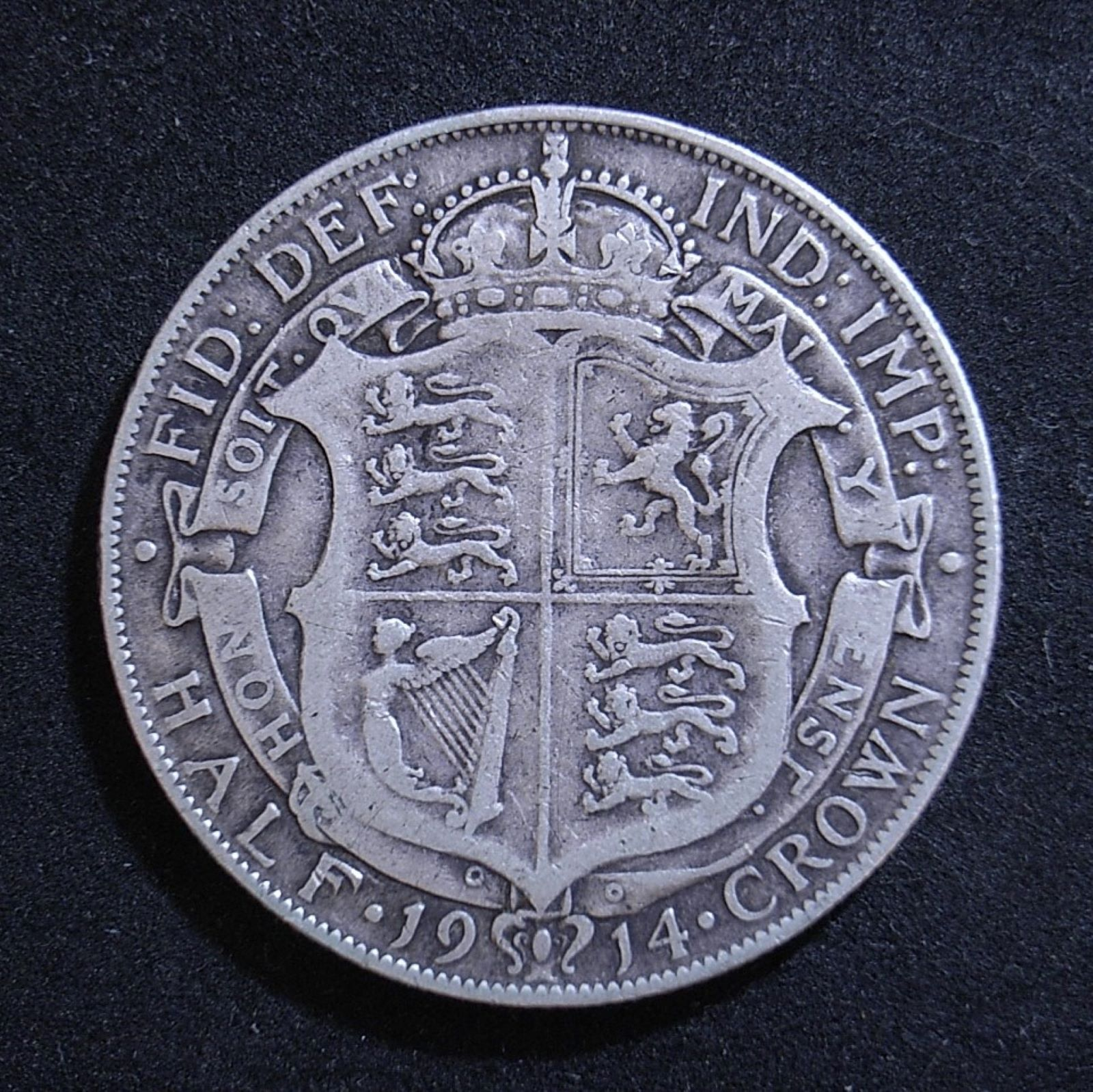 UK Half Crown 1914 rev 1