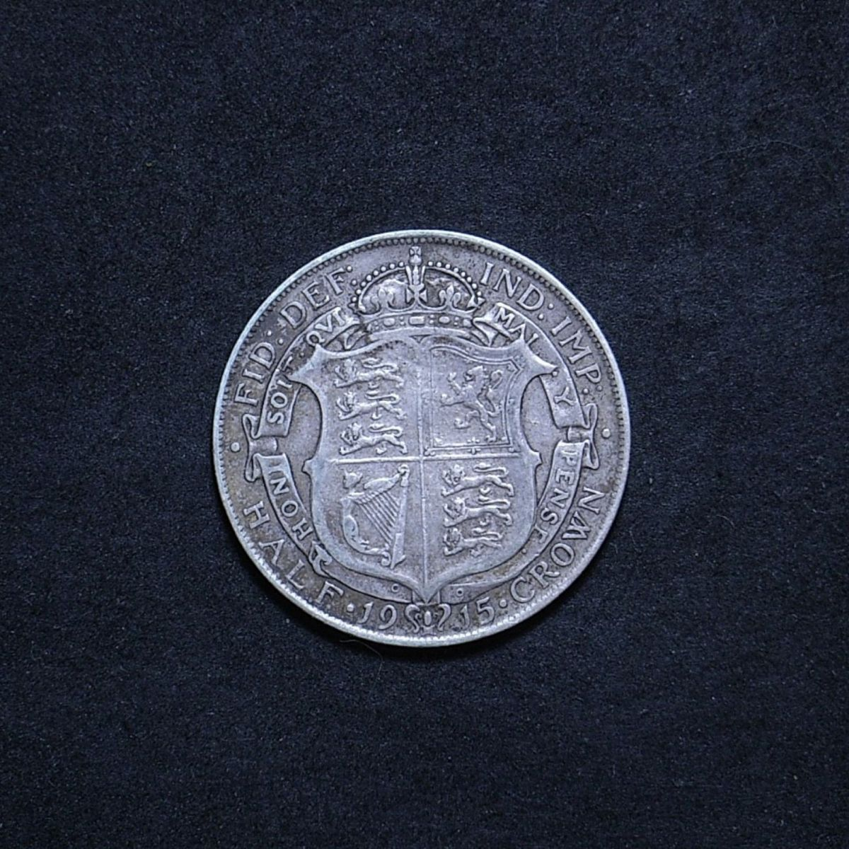 UK Half Crown 1915 reverse showing overall appearance