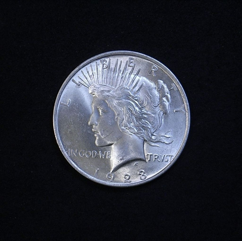 US Peace Dollar 1923-P obverse showing overall appearance