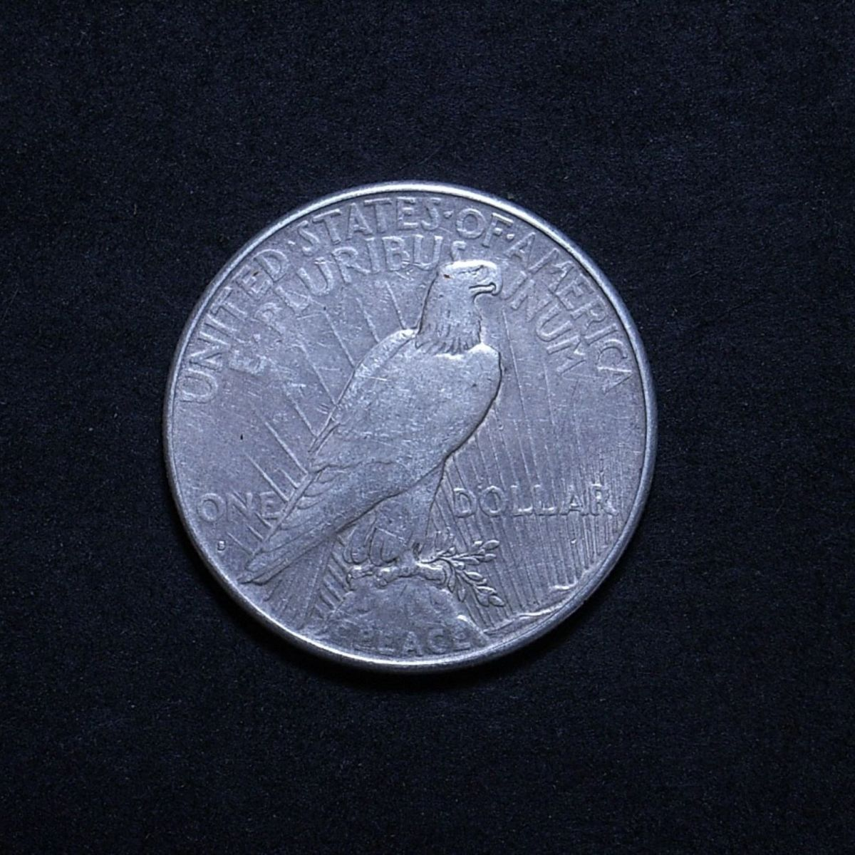 US Peace Dollar 1928-S reverse showing overall appearance