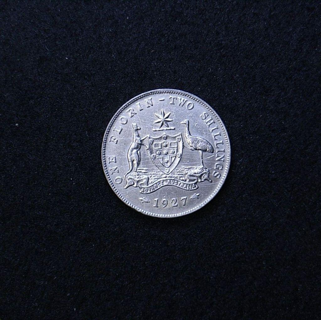 Aus Florin 1927 reverse