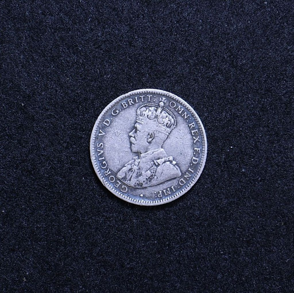 Aus Shilling 1921 star obverse showing overall appearance