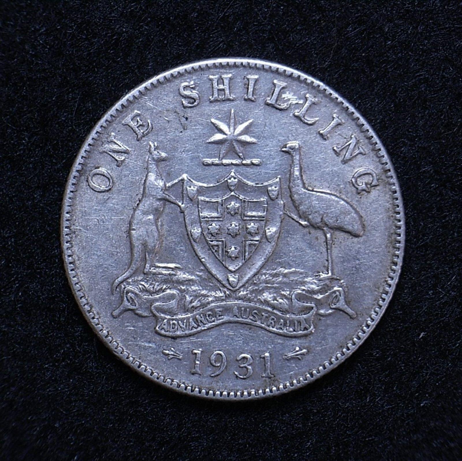 Aus Shilling 1931 rev