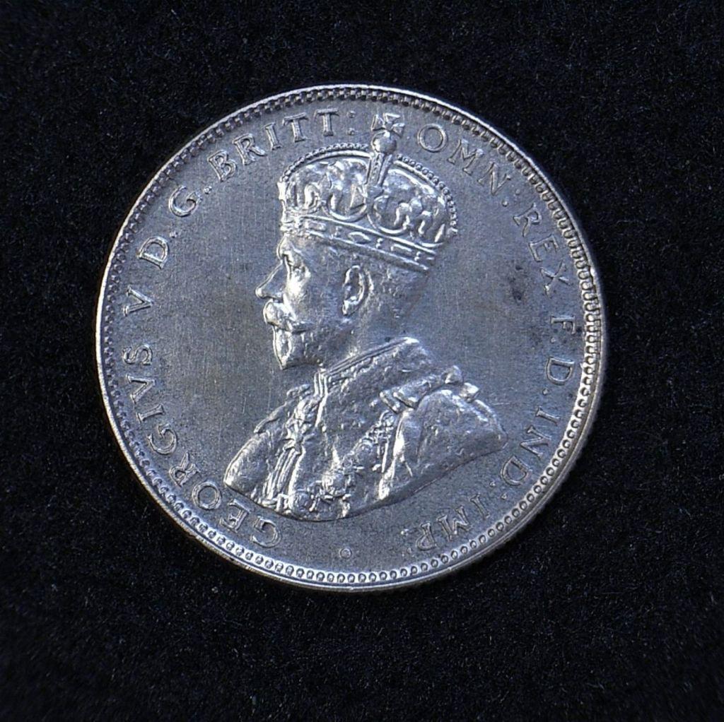 Close up 2 Aus Shilling 1934 obverse