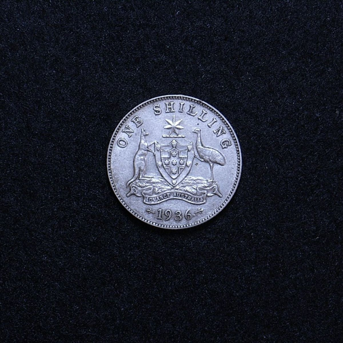 Aus Shilling 1936 reverse showing overall appearance