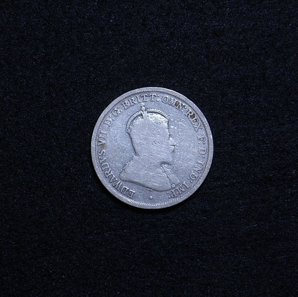 Aus Florin 1910 obverse showing overall appearance