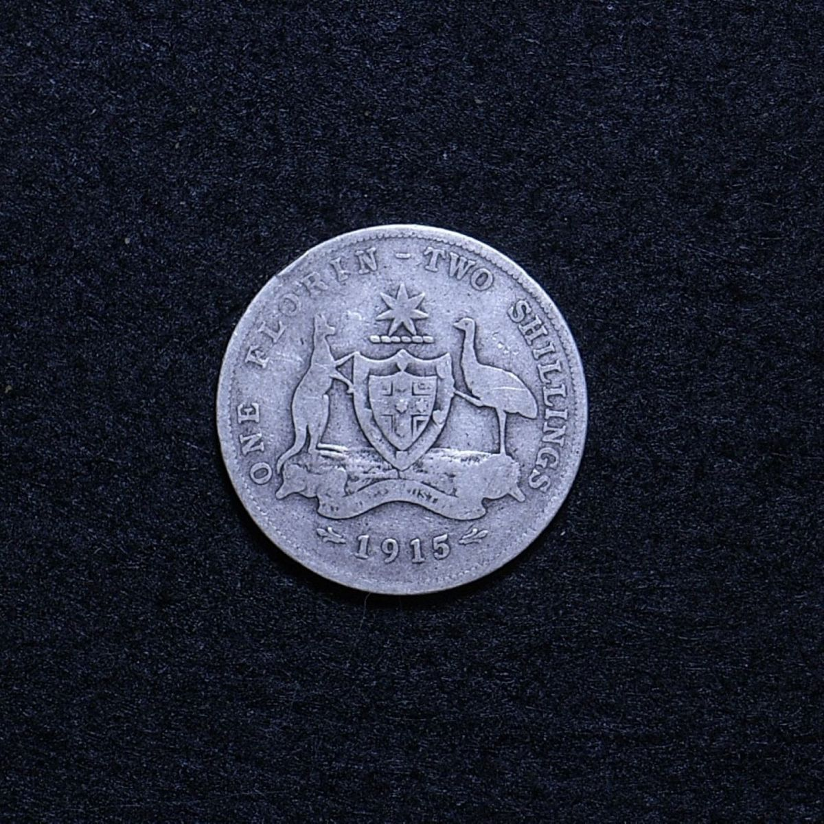 Aus Florin 1915 reverse showing overall appearance
