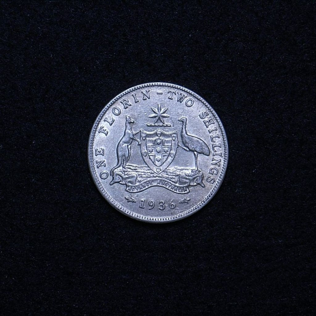 Aus Florin 1936 reverse showing overall appearance