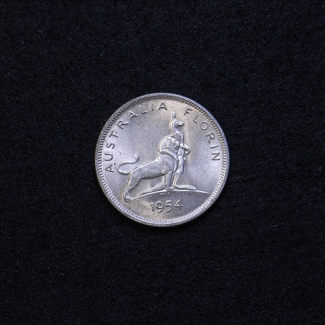 Aus Florin 1954 reverse showing overall appearance