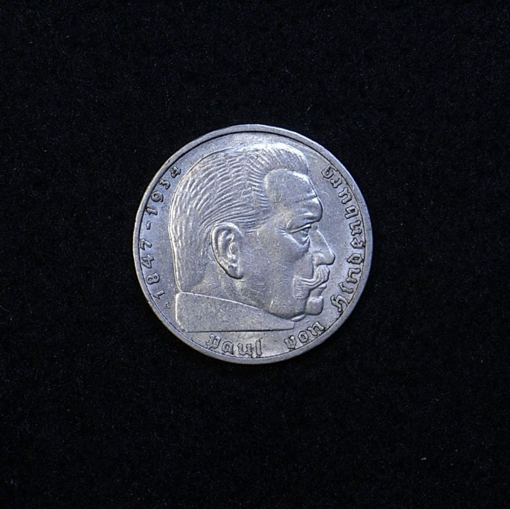 Germany 2 Reichsmarks 1939A obverse