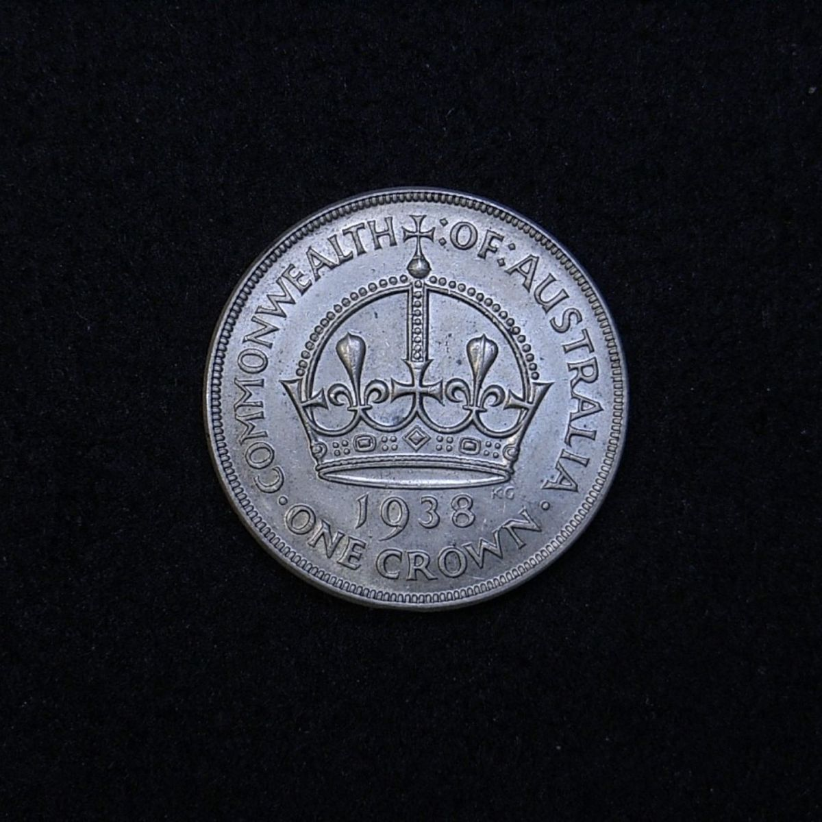 Aus Crown 1938 reverse showing overall appearance