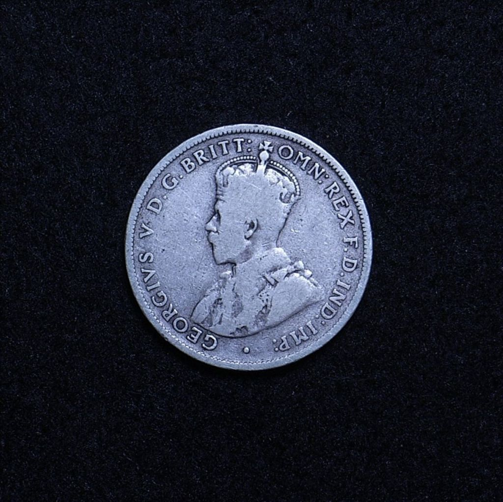 Aus Florin 1915 obverse showing overall appearance