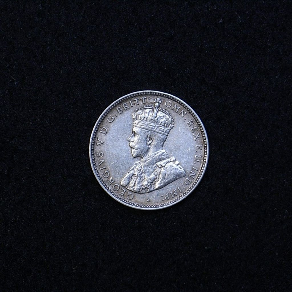 Aus Shilling 1916M obverse showing overall appearance