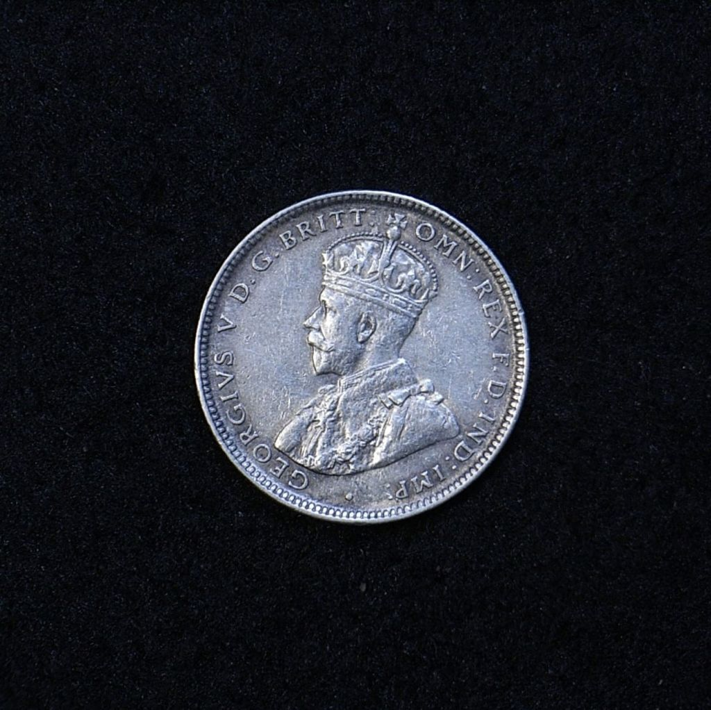 Aus Shilling 1918M obverse showing overall appearance