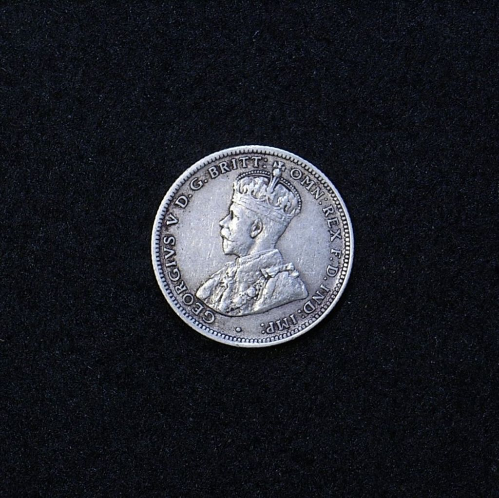 Aus Shilling 1924 obverse showing overall appearance