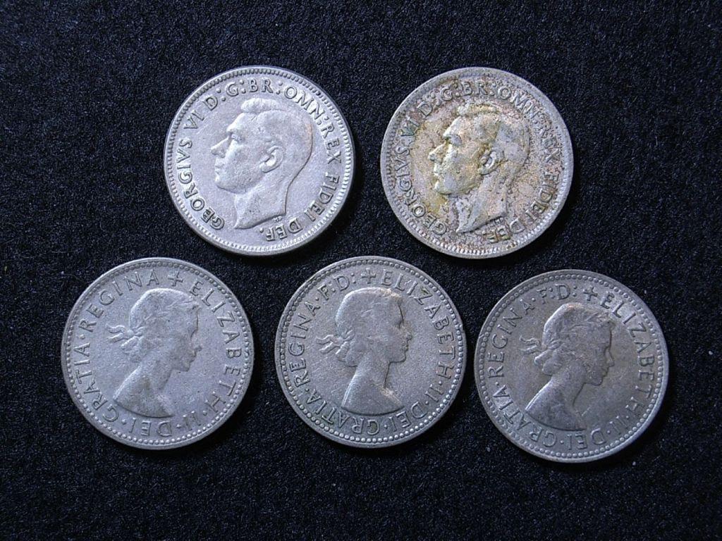 Close up Aus Shillings 50s obverse