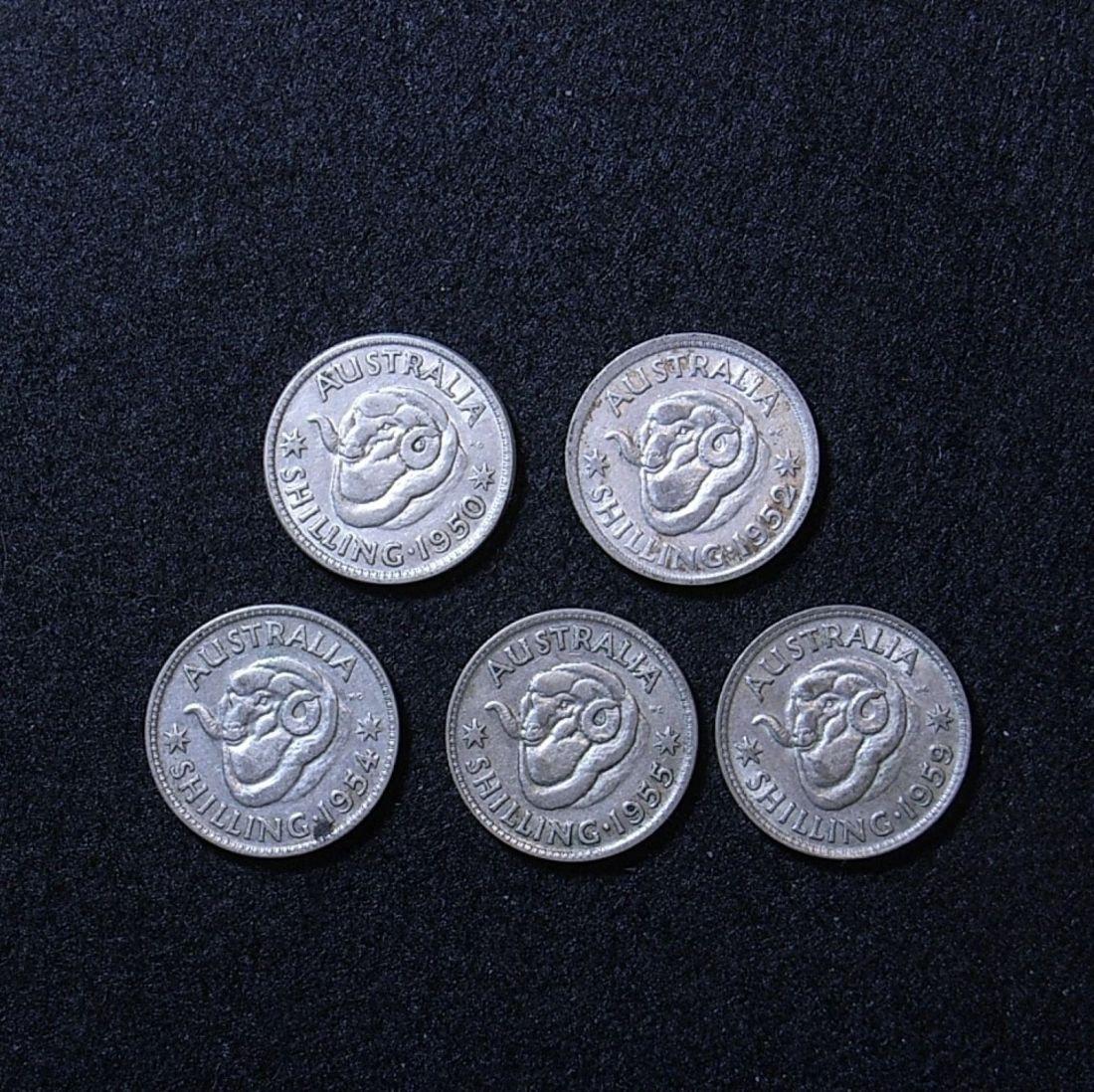 Aus Shillings 50s reverse