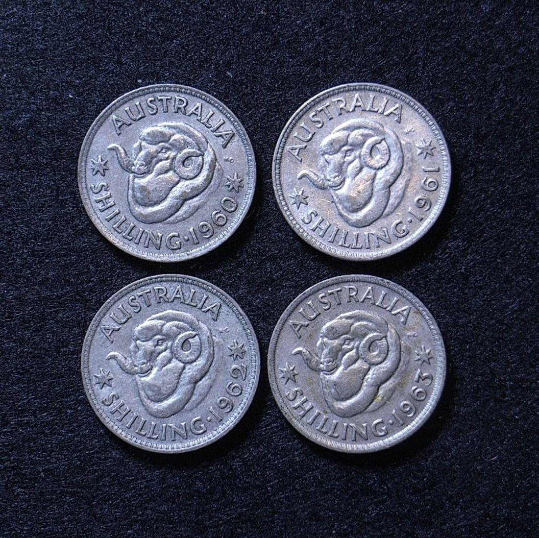 Aus Shillings 60s reverse
