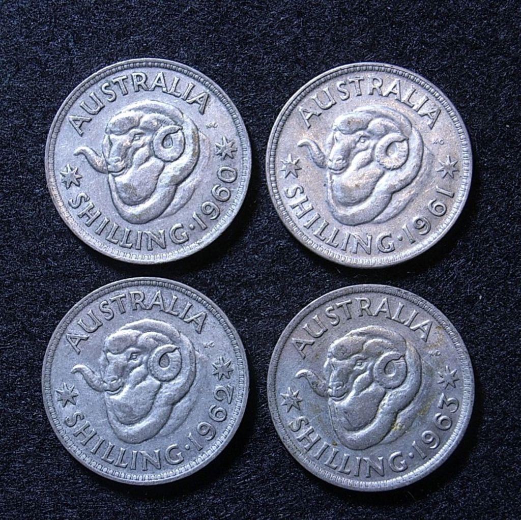 Close up Aus Shillings 60s reverse