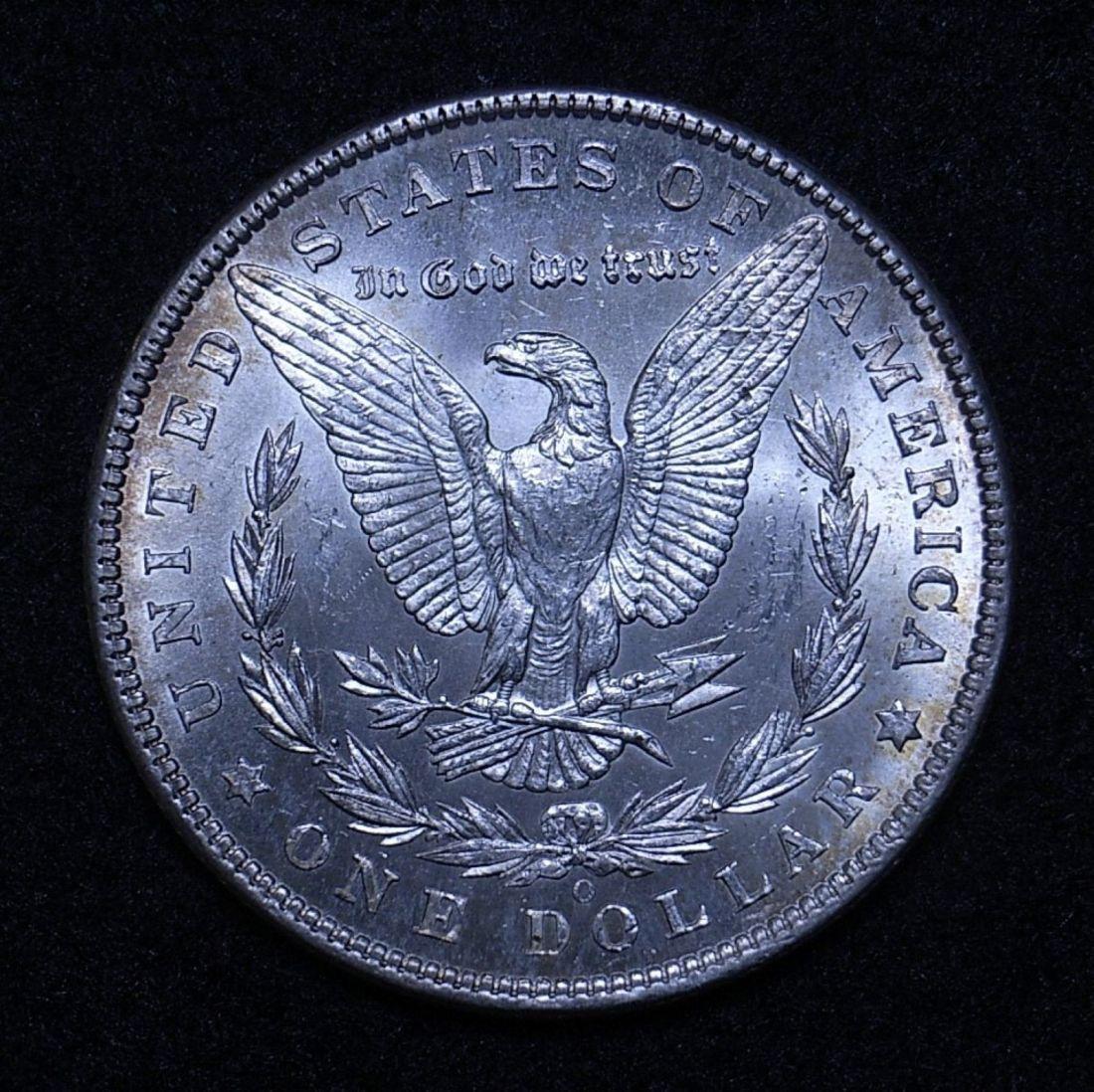 Close up US Morgan Dollar 1902-O reverse