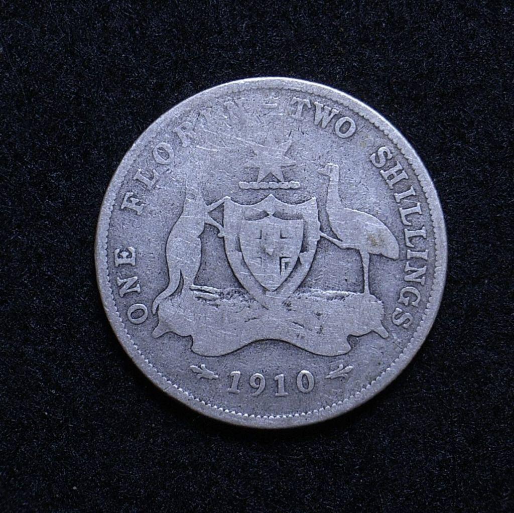 Aus Florin 1910 reverse
