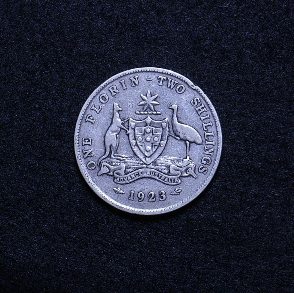 Aus Florin 1923 reverse