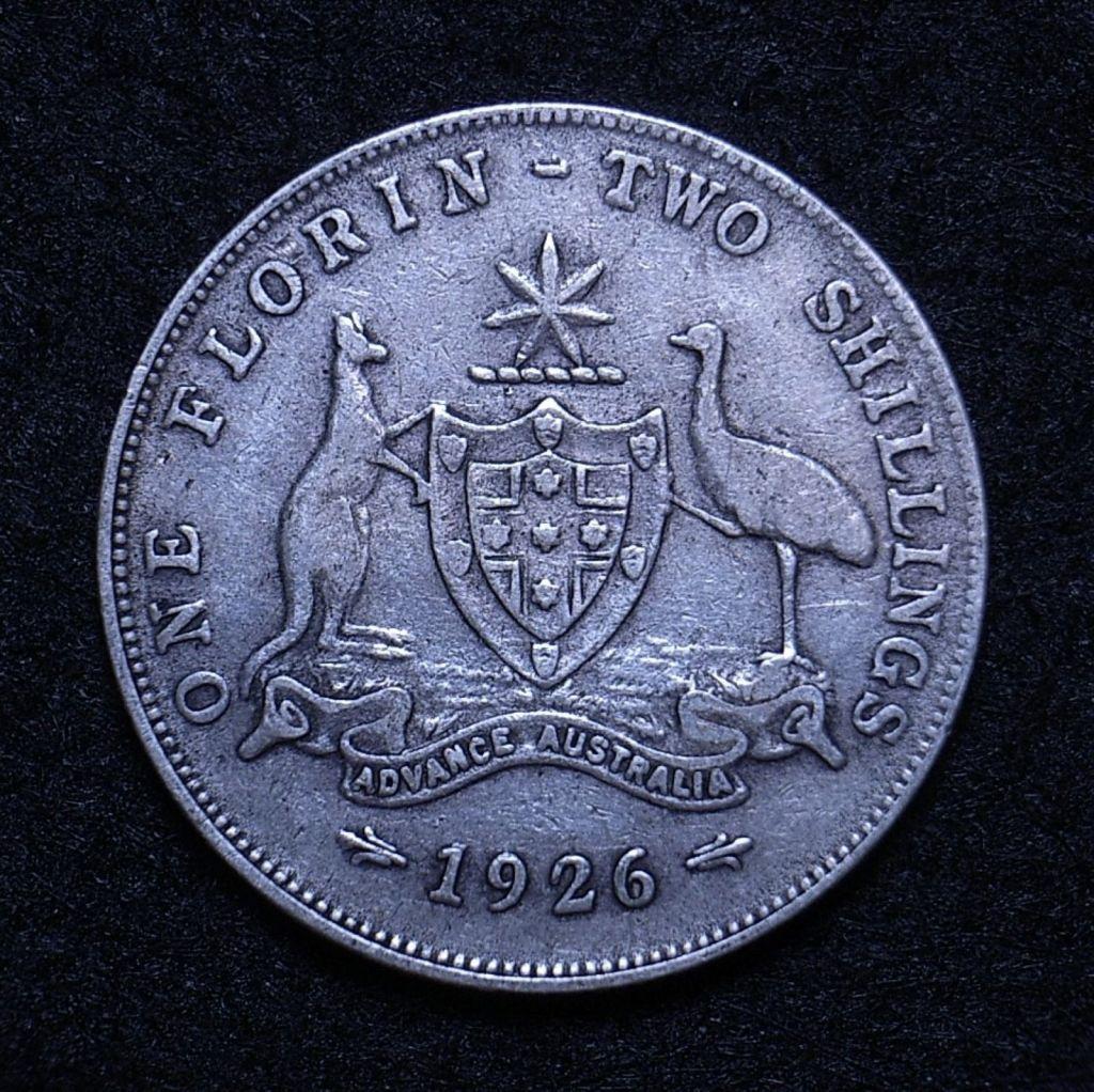 Close up Aus Florin 1926 reverse