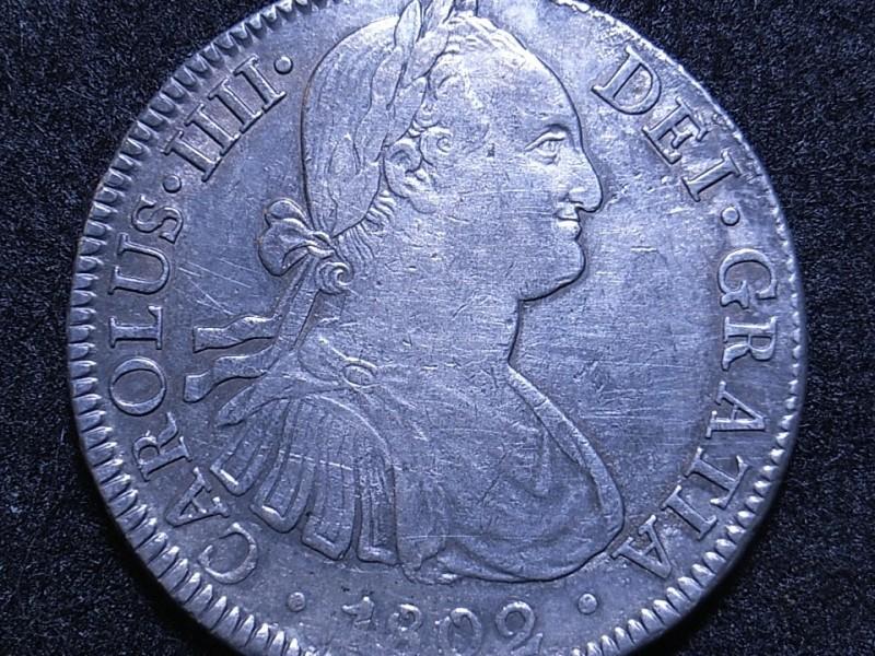 Colonial Spain, Mexio 8R 1802 FT obverse