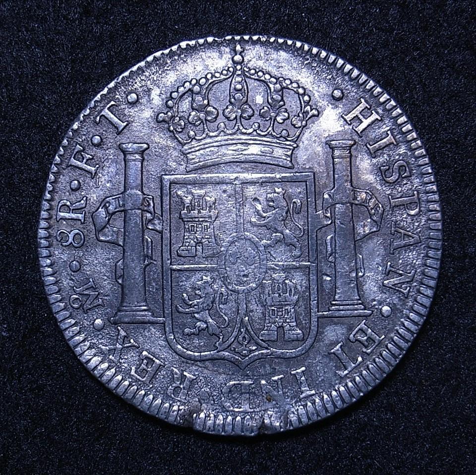 Colonial Spain, Mexio 8R 1802 FT reverse
