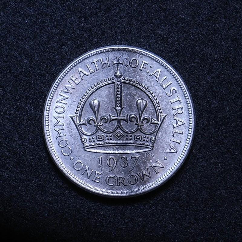 Aus Crown 1937 reverse