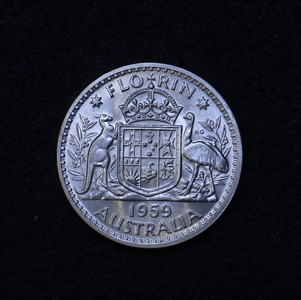 Aus Florin 1959 reverse