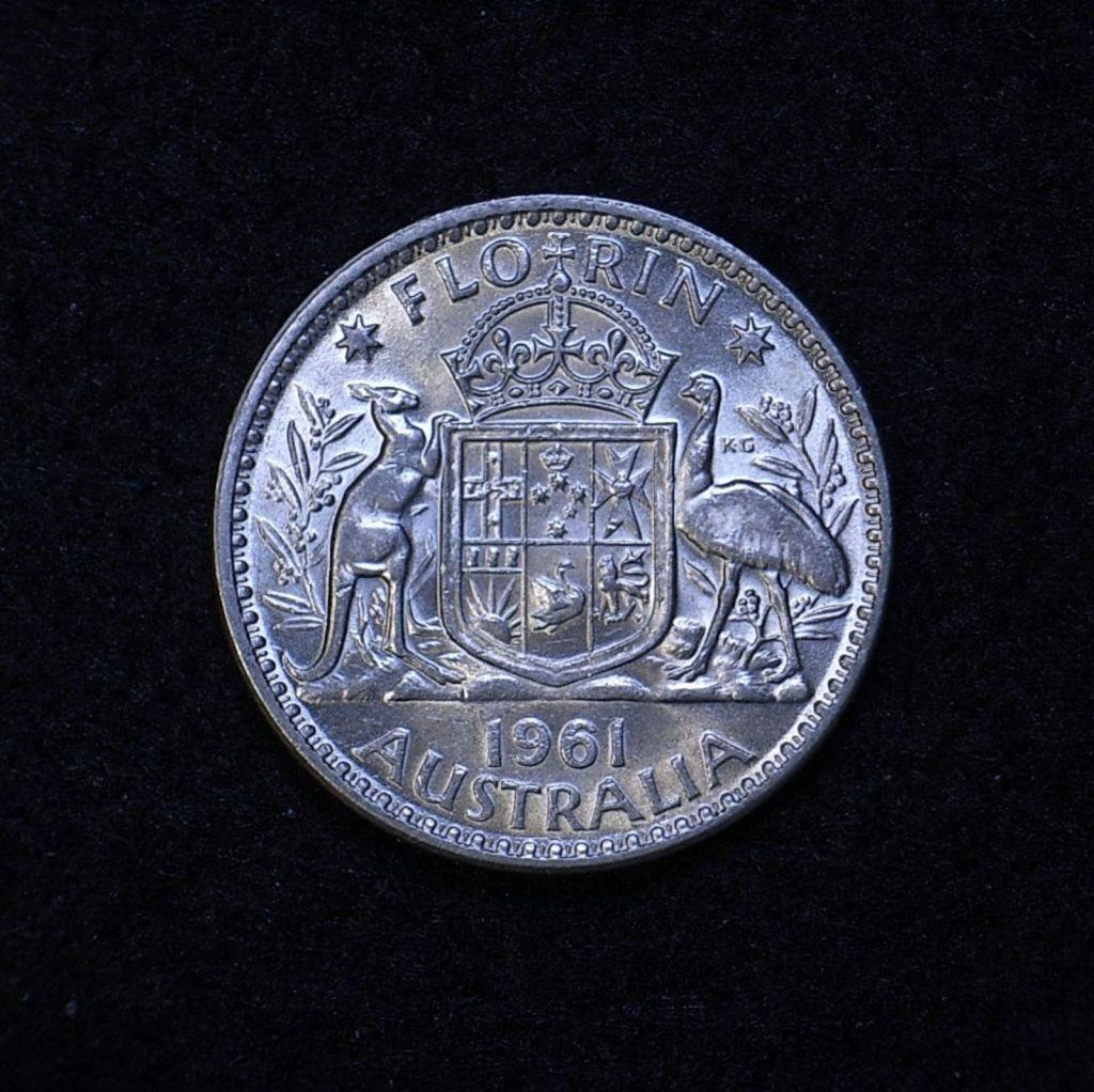 Aus Florin 1961 reverse
