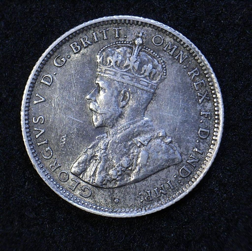 Close up Aus Shilling 1925 obverse