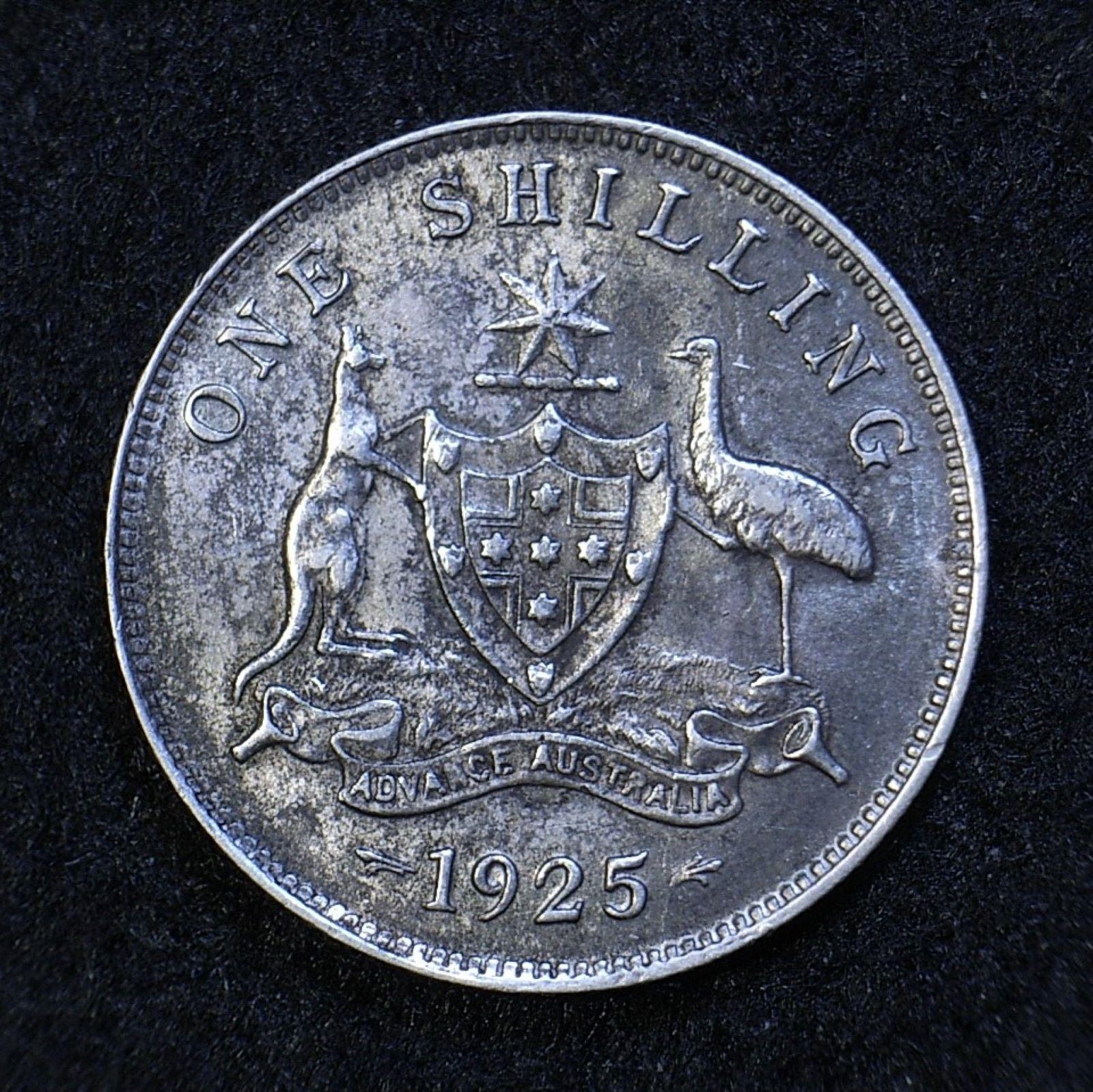 Aus Shilling 1925 rev