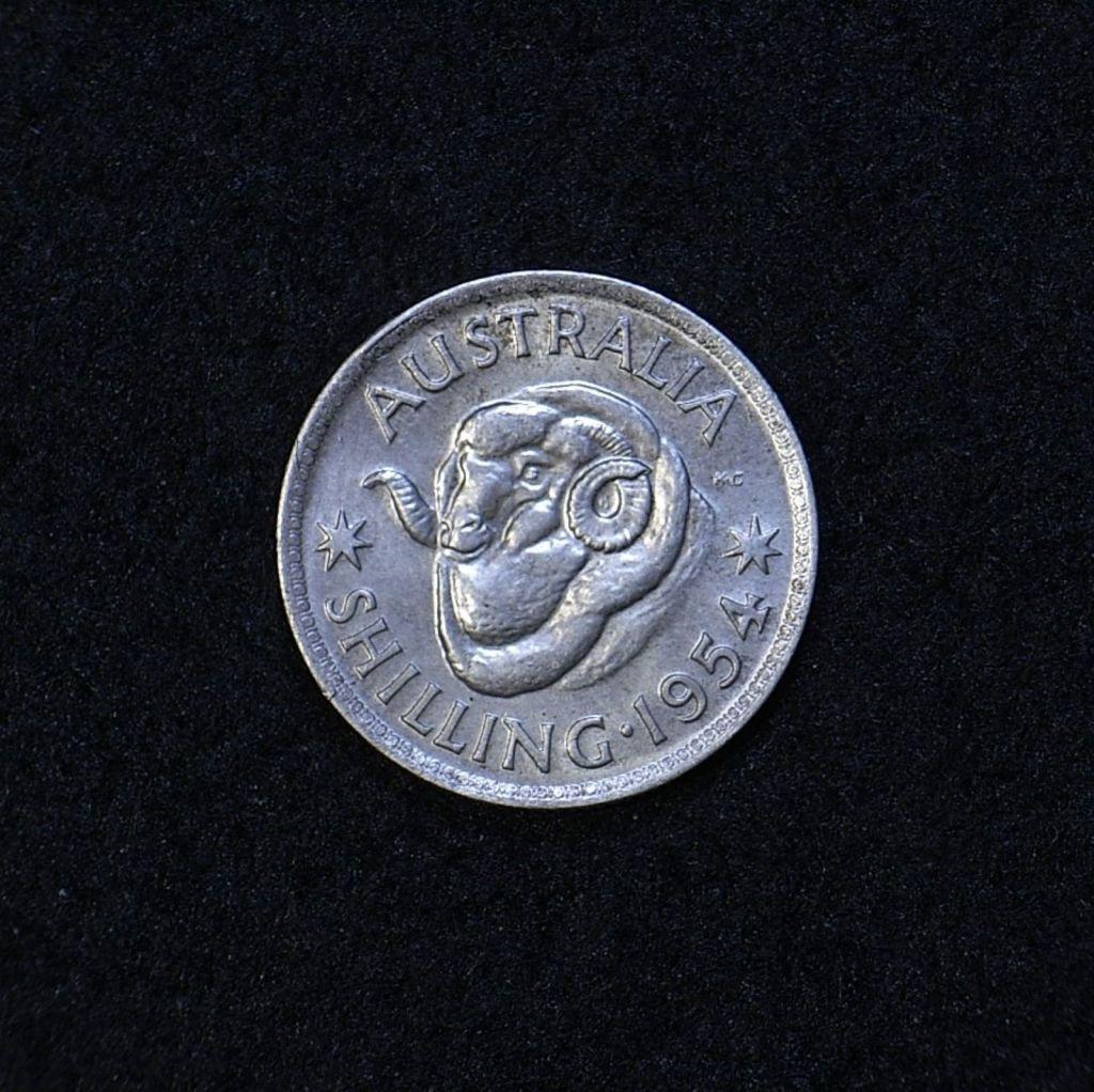 Aus Shilling 1954 reverse