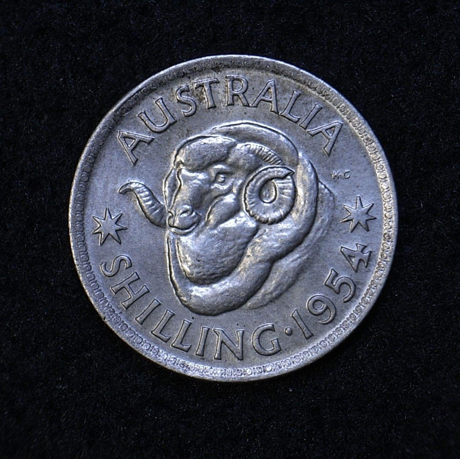 Aus Shilling 1954 rev