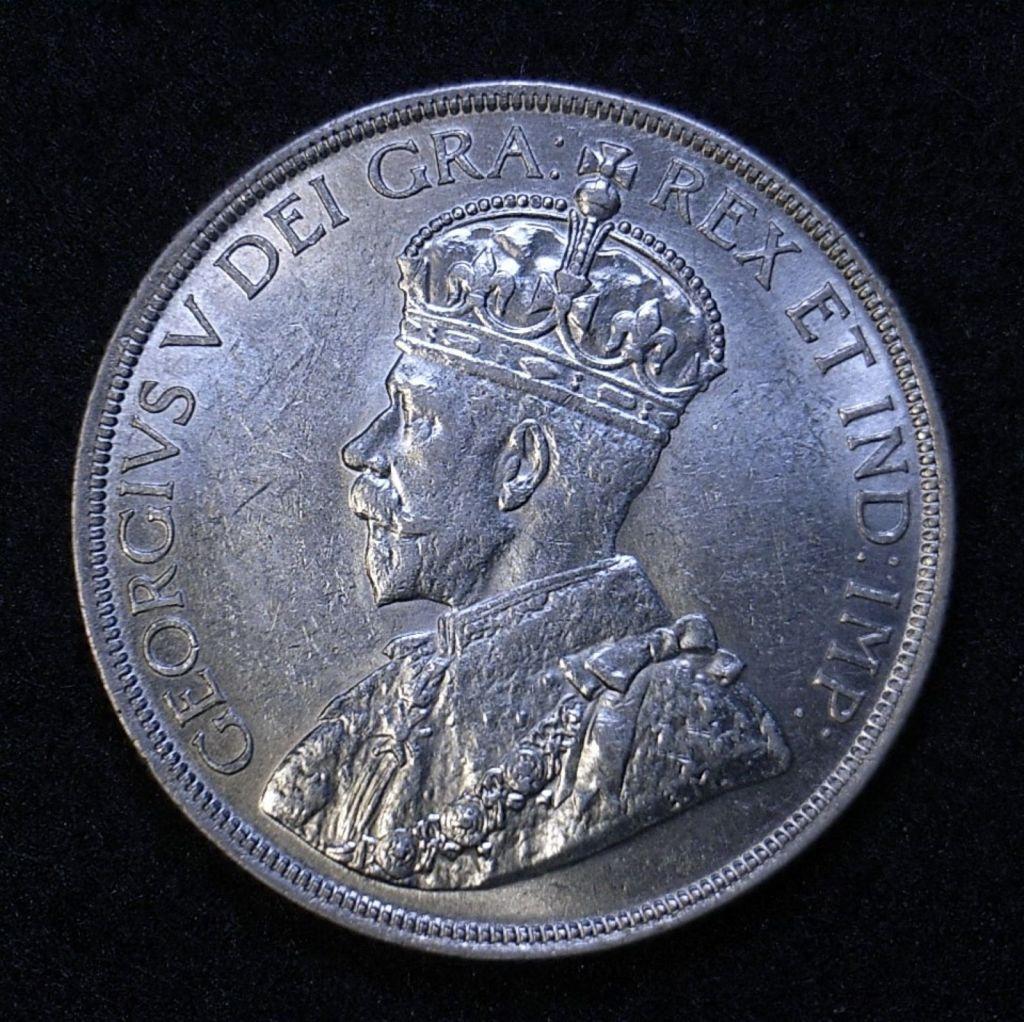 Close up Canada Dollar 1936 obverse
