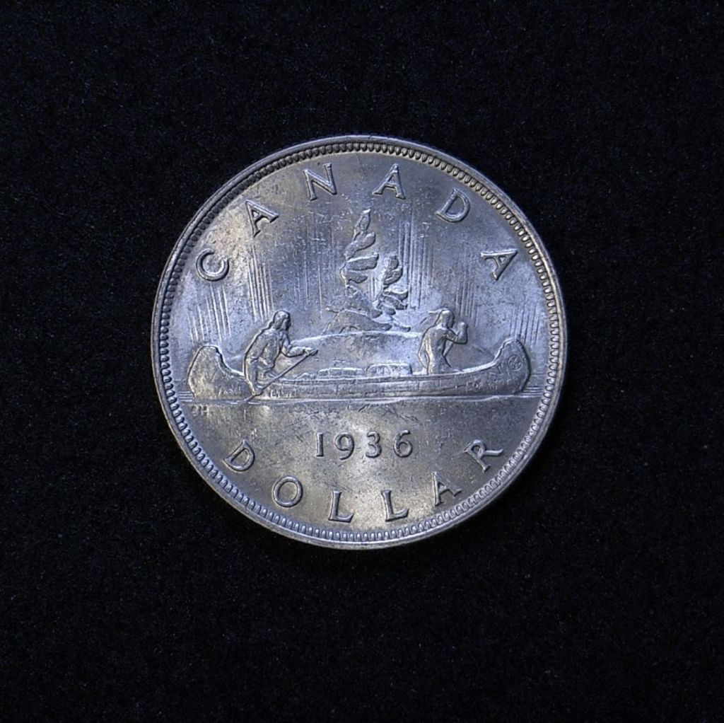 Canada Dollar 1936 reverse