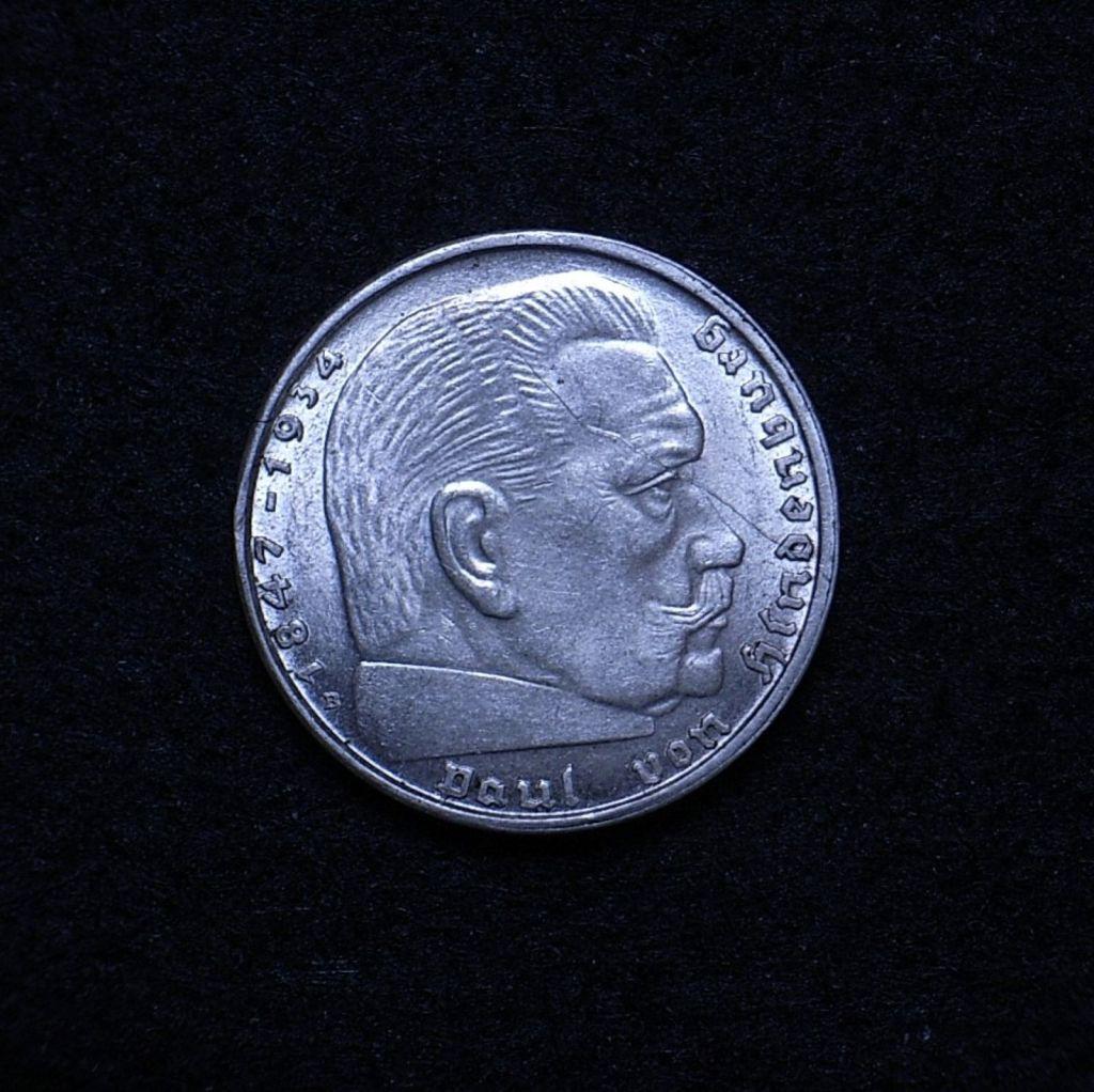 Germany 2 Reichsmarks 1939 obverse