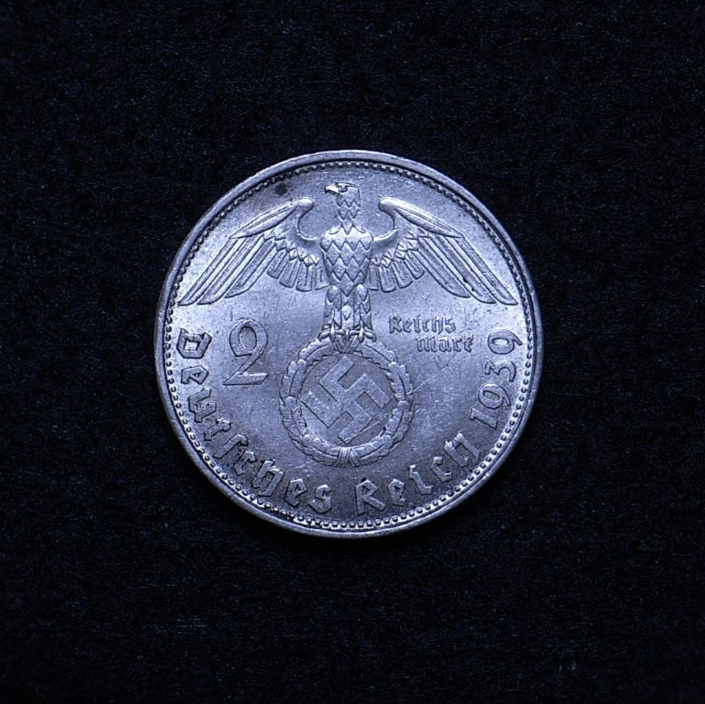 Germany 2 Reichsmarks 1939 reverse