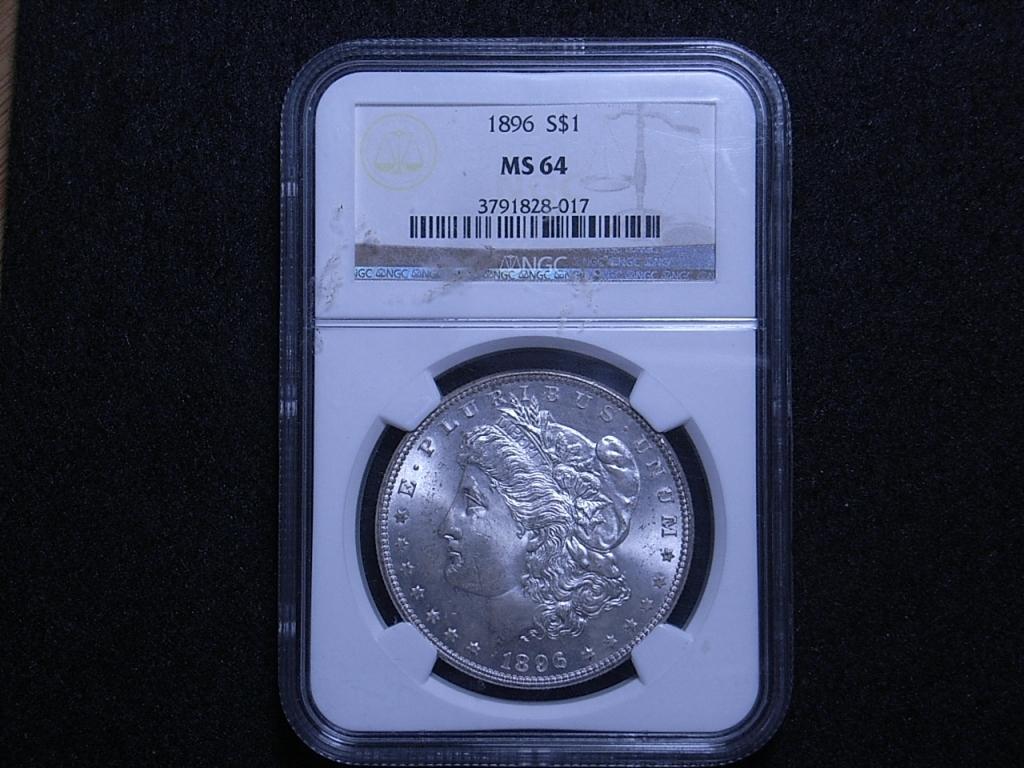 NGC slab MS64 US Morgan dollar