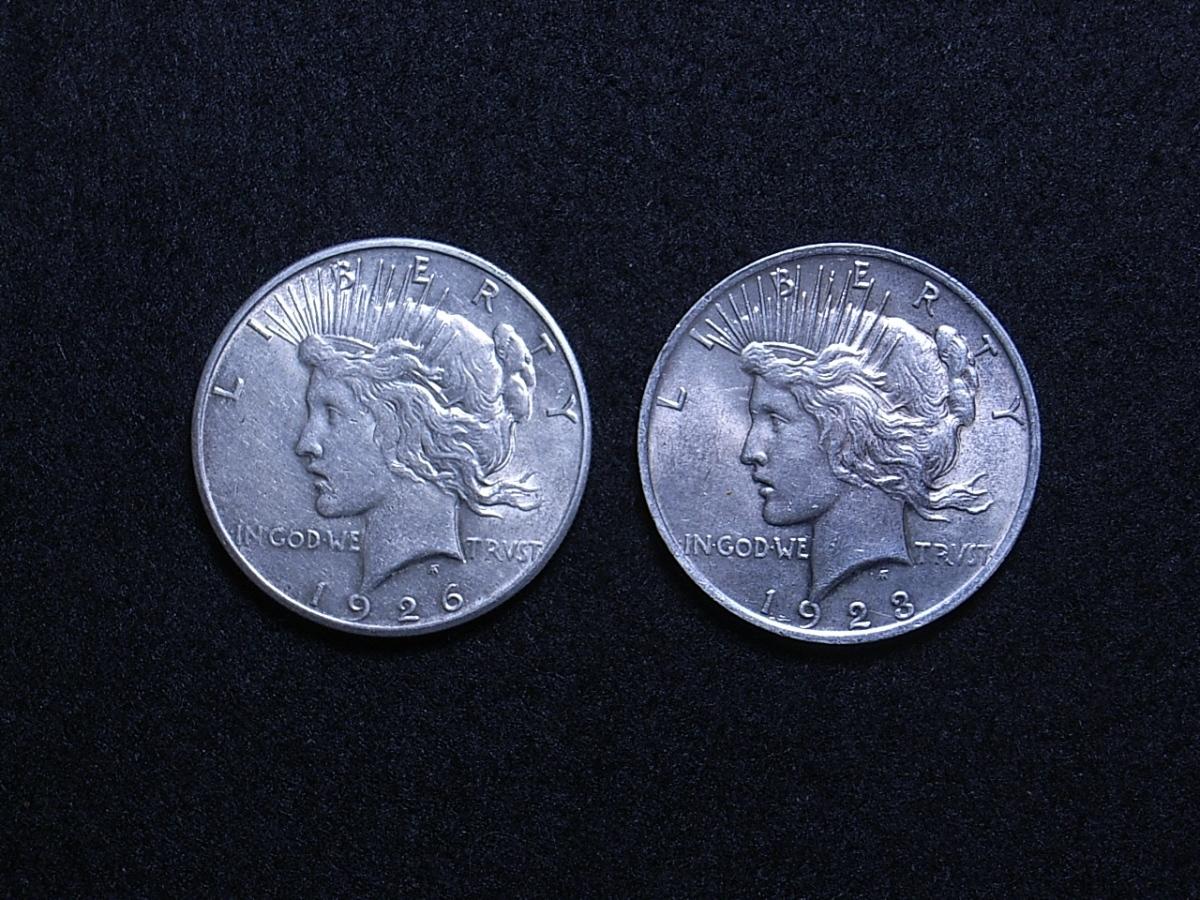 US Peace Dollars obverse 2