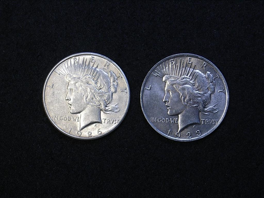 US Peace Dollars obverse